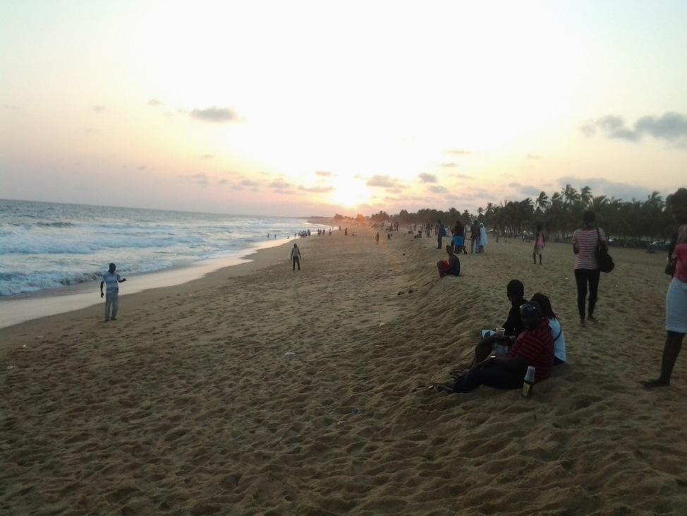 La plage de Lomé en face de l'ancienne présidence.